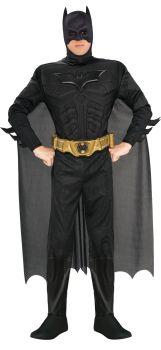 Men's Deluxe Batman Costume - Dark Knight Trilogy - Adult Large
