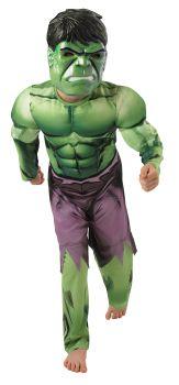 Boy's Deluxe Muscle Hulk Costume - Child Medium