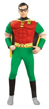 Men's Robin Muscle Chest Costume - Teen Titans - Adult Large