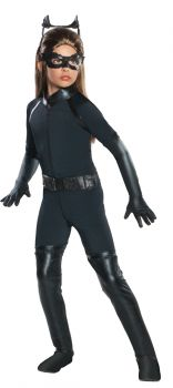 Girl's Deluxe Catwoman Costume - Dark Knight Trilogy - Child Small