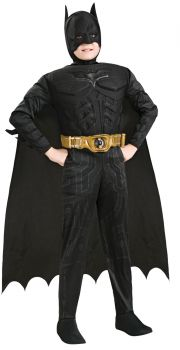 Boy's Deluxe Muscle Batman Costume - The Dark Knight Rises - Child Medium