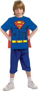 Superman T-Shirt With Cape - Child Medium