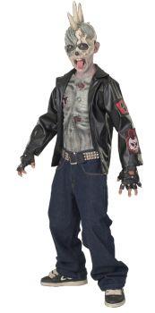 Boy's Punk Zombie Costume - Child Medium