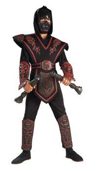 Boy's Red Skull Warrior Ninja Costume - Child Large