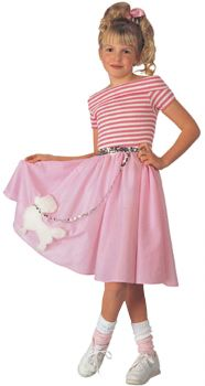 Girl's Nifty Fifties Costume - Child Small