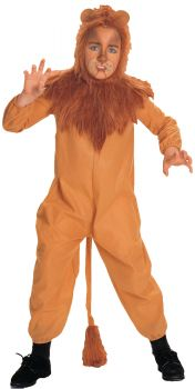 Boy's Cowardly Lion Costume - Wizard Of Oz - Child Large