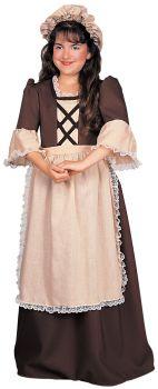 Girl's Colonial Costume - Child Medium