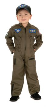 Boy's Air Force Fighter Pilot Costume - Child Large