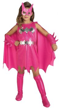Girl's Deluxe Pink Batgirl Costume - Child Small