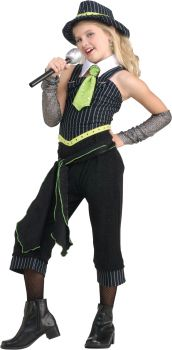 Girl's Gangster Moll Costume - Child Large