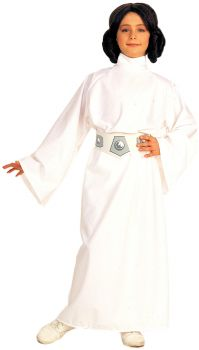 Girl's Deluxe Princess Leia Costume - Star Wars Classic - Child Large