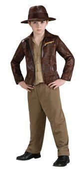 Boy's Deluxe Indiana Jones Costume - Child Large