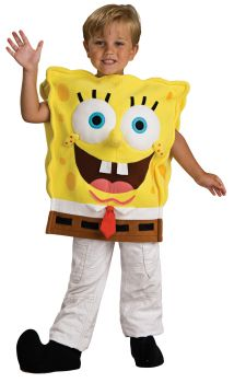 Boy's Deluxe Spongebob Costume - Child Medium
