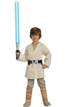 Boy's Deluxe Luke Skywalker Costume - Star Wars Classic - Child Large