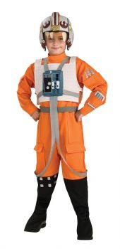Boy's Deluxe X-Wing Fighter Costume - Star Wars Classic - Child Large
