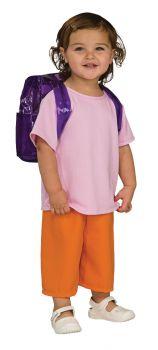 Girl's Deluxe Dora Costume - Child Medium