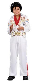 Boy's Deluxe Eagle Jumpsuit Elvis Presley Costume - Child Large