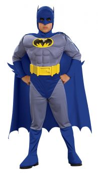 Deluxe Muscle Batman Costume - Brave & The Bold - Child Large