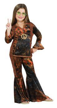 Girl's Woodstock Diva Costume - Child Medium