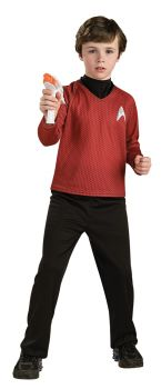 Deluxe Red Star Trek Shirt - Child Small