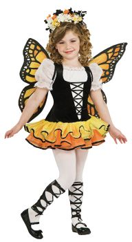 Girl's Monarch Butterfly Costume - Child Medium