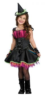 Girl's Rockin' Out Witch Costume - Child Large