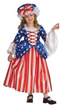 Girl's Deluxe Betsy Ross Costume - Child Medium