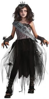 Girl's Gothic Prom Queen Costume - Child Large