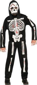 Boy's Skeleton Costume - Child Large