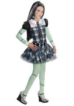 Girl's Frankie Stein Costume - Monster High - Child Medium