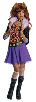 Girl's Clawdeen Wolf Dress - Monster High - Child Large