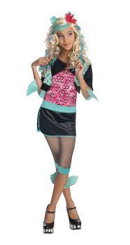 Girl's Lagoona Blue Costume - Monster High - Child Large