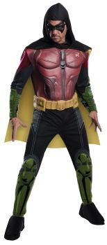 Men's Robin Muscle Costume - Arkham City - Adult Medium