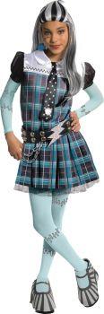 Girl's Deluxe Frankie Stein Costume - Monster High - Child Small