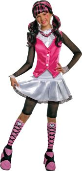 Girl's Deluxe Draculaura Costume - Monster High - Child Small