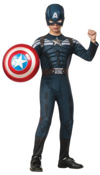 Boy's Captain America 2 Stealth Costume - Child Large