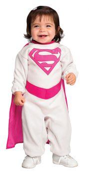 Pink Romper Supergirl Costume - Infant (0 - 6M)