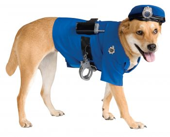 Police Officer Pet Costume - Pet XL