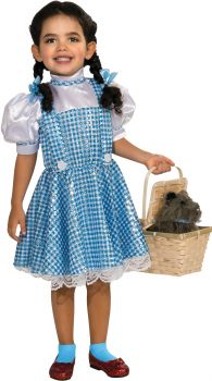 Girl's Sequin Dorothy Costume - Wizard Of Oz - Child Small