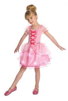 Girl's Light-Up Ballerina Barbie Costume - Child Small
