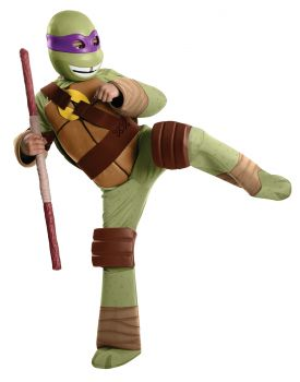 Boy's Deluxe Donatello Costume - Ninja Turtles - Child Medium
