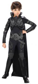 Girl's Deluxe Faora Costume - Child Medium