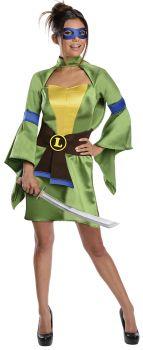 Women's Kimono Leonardo Costume - Ninja Turtles - Adult Small