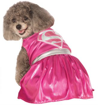 Pink Supergirl Pet Costume - Pet L