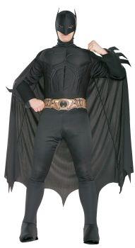 Men's Deluxe Muscle Chest Batman Costume - Adult Large