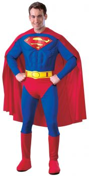 Men's Deluxe Muscle Chest Superman Costume - Adult Large