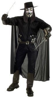Men's V For Vendetta Costume - Adult OSFM