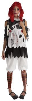 Women's Rag Doll Girl Costume - Adult OSFM