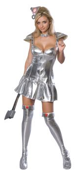 Women's Flirty Tin Man Costume - Wizard Of Oz - Adult Medium