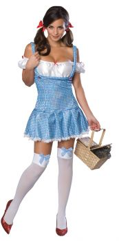Women's Flirty Dorothy Costume - Wizard Of Oz - Adult Medium